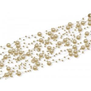 """Girlanda """"perłowa"""" ecru/krem 5 szt.x150 cm"""