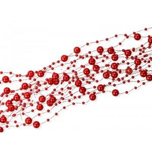 """Girlanda """"perłowa"""" czerwona 5 szt.x150 cm"""