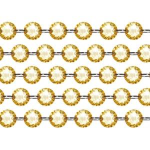 """Girlanda """"kryształowa"""" złota 100 cm"""
