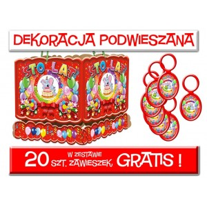 Dekoracja podwieszana roczek + zawieszki