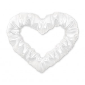 Serce z połyskiem białe 50 cm