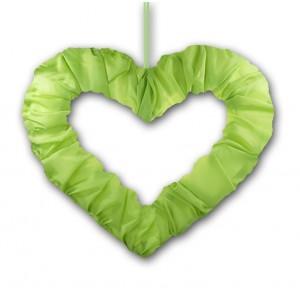 Serce z tasiemką zielone 50 cm