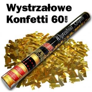 Wystrzałowe konfetti / metalicznie złote konfetti 60 cm