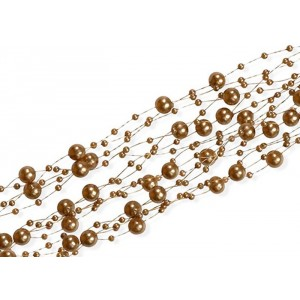 """Girlanda """"perłowa"""" j.brązowy 5 szt. x 150 cm"""