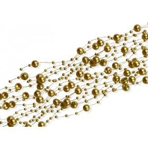 """Girlanda """"perłowa"""" złota 5 szt. x 150 cm"""