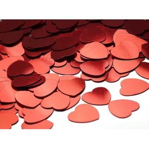 Konfetti metaliczne serduszka 6 mm/30 g