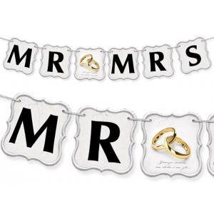 Baner MR MRS / obrączki