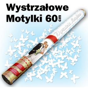 Wystrzałowe konfetti / wyrzutnia motylków 60 cm