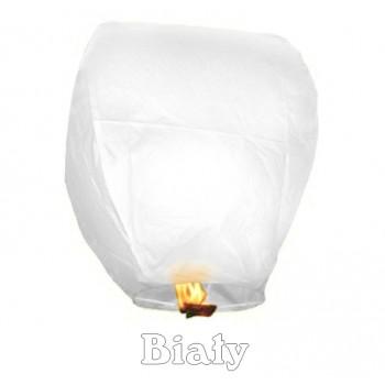 Lampion szczęścia biały owalny 38*58*103 cm