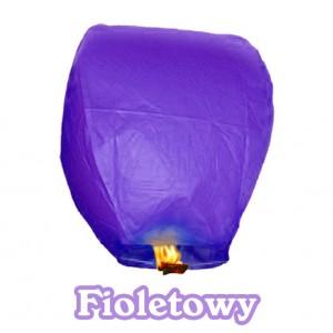 Lampion szczęścia fioletowy owalny 38*58*103 cm
