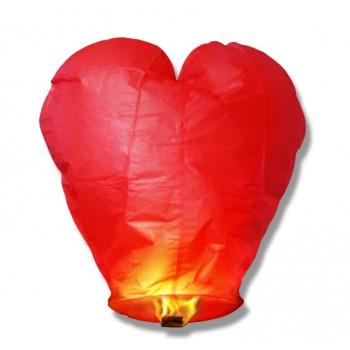 Lampion szczęścia serce czerwone
