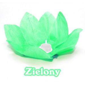 Lampion pływający / zielony kwiat lotosu