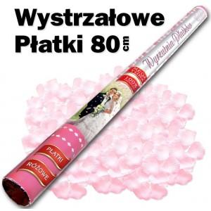 Wystrzałowe konfetti / wyrzutnia płatków 80 cm (różowe)