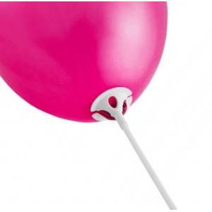 Patyczki do balonów/ białe 30 cm /100 szt.