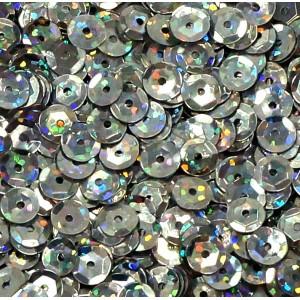 Cekiny laserowe srebrne łamane 6 mm /15 g