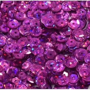 Cekiny laserowe różowe łamane 6 mm /15 g