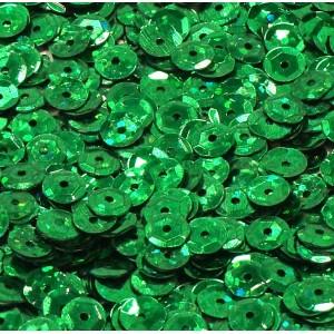 Cekiny laserowe zielone łamane 6 mm /15 g
