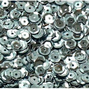 Cekiny metaliczne srebrne łamane 6 mm /15 g
