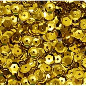 Cekiny metaliczne złote łamane 6 mm /15 g