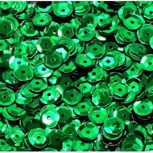 Cekiny metaliczne zielone łamane 6 mm /15 g