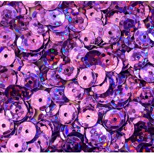 Cekiny laserowe j. fioletowe łamane 6 mm /15 g