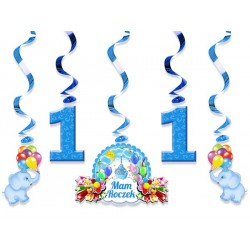 Świderki urodzinowe 5 szt. / niebieskie