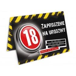 Zaproszenie na 18 Danger/ 10 szt.