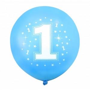 """Balon urodzinowy konfetti  / """"1"""" niebieski 100 szt."""