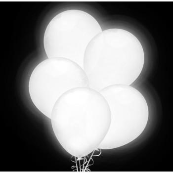 "Balon świecący 12 "" LED / biały 5 szt."