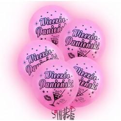 """Balon świecący 12 """" LED / Wieczór Panieński / 5 szt."""