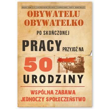 Zaproszenie/Obywatelu/50 lat / 10 szt.