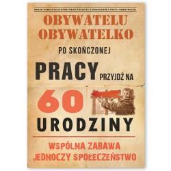 Zaproszenie/Obywatelu/60 lat / 10 szt.