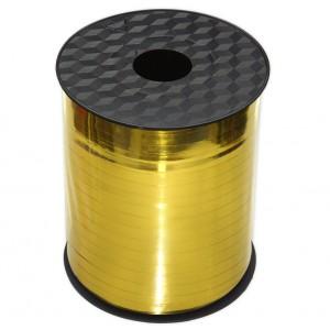 Wstążka / tasiemka dekoracyjna, złota, metaliczna do balonów