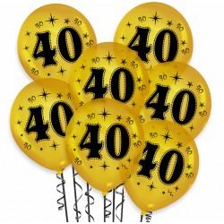 """Balon urodzinowy / """"40"""" metaliczny złoty 100 szt."""