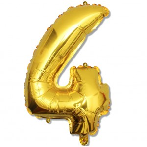 """Balon cyfra złota """"4"""" 75 cm"""