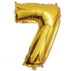 """Balon cyfra złota """"7"""" 75 cm"""