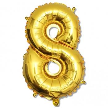 """Balon cyfra złota """"8"""" 75 cm"""