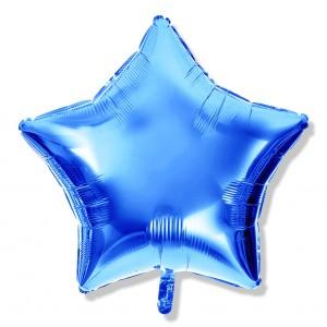 Balon gwiazdka 25 cm / foliowy / niebieski
