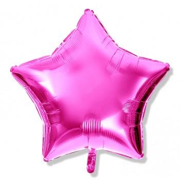 Balon gwiazdka 25 cm / foliowy / różowy