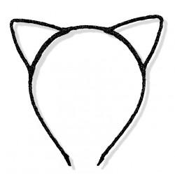 Uszy kotka czarne/ kotek / opaska do włosów LUX