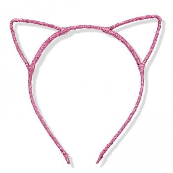 Uszy kotka różowe/ kotek / opaska do włosów Lux