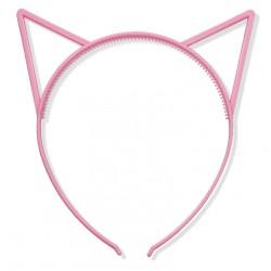 Uszy kotka jasnoróżowe/ kotek / opaska do włosów