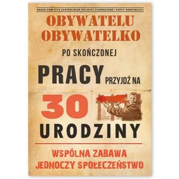 Zaproszenie /Obywatelu /30 lat / 10 szt.