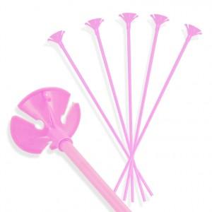 Patyczki do balonów/ różowe 30 cm /100 szt.