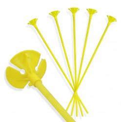 Patyczki do balonów/ żółte 30 cm /100 szt.