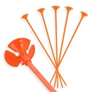 Patyczki do balonów/ pomarańczowe 30 cm /100 szt.