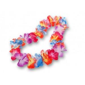Naszyjnik hawajski tęczowy 12 szt.