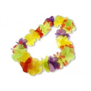 Naszyjnik hawajski kolorowy 12 szt.