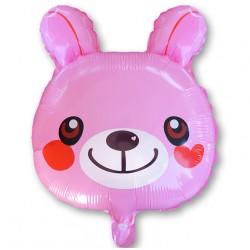 Balon miś różowy 47 cm / foliowy FX