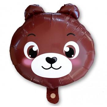 Balon miś brązowy 43 cm / foliowy FX